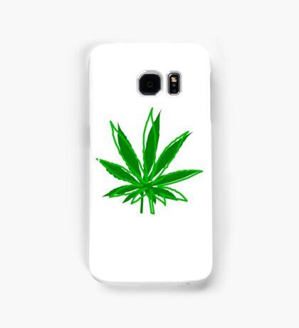 Abstract Cannabis Leaf Samsung Galaxy Case/Skin