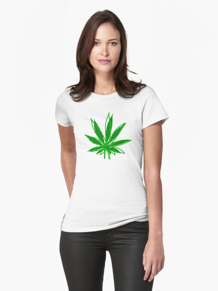 Abstract Cannabis Leaf by MarijuanaTshirt