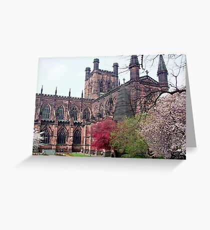 Chester Cathedral in Springtime Greeting Card