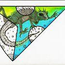 Rainbow Mandala Collaboration ~ My Piece by Catherine  Howell