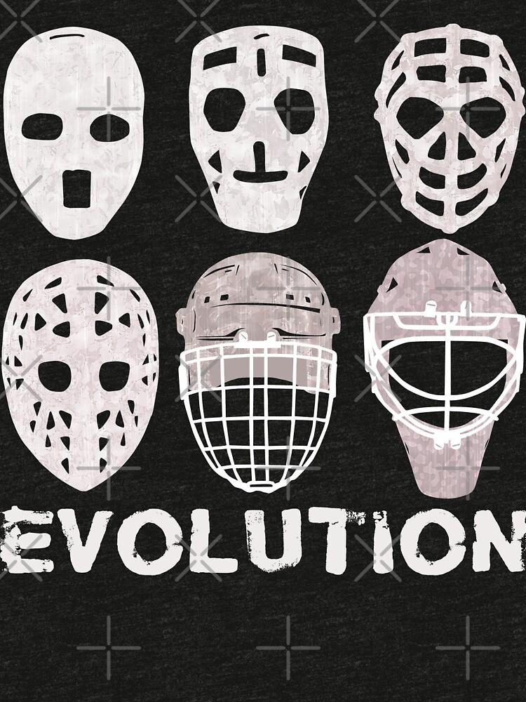 Hockey Goalie Mask Evolution Tri Blend T Shirt By Gamefacegear