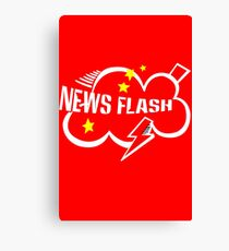 News flash black geek funny nerd Canvas Print