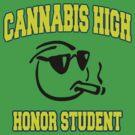Cannabis High by MarijuanaTshirt