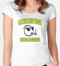 Cannabis High Women's Fitted Scoop T-Shirt