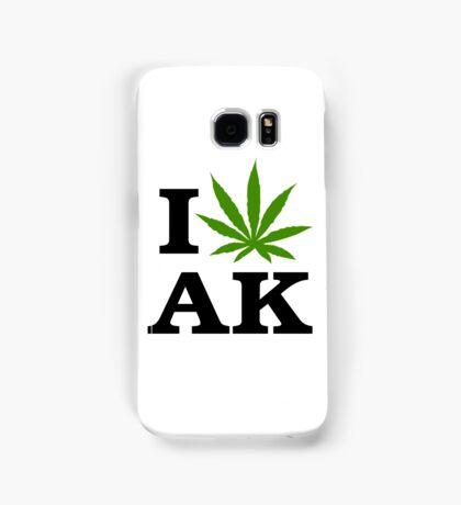 I Love Alaska Marijuana Cannabis Weed  Samsung Galaxy Case/Skin