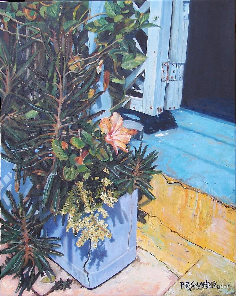 Isla Mujeres Doorstep by Peggy Selander