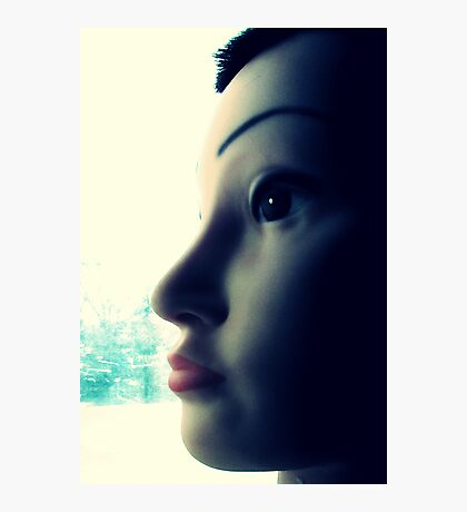 Mandy the Giant Head Contemplates the Meaning of Christmas Photographic Print