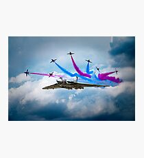 Vulcan Red Arrows Break Photographic Print