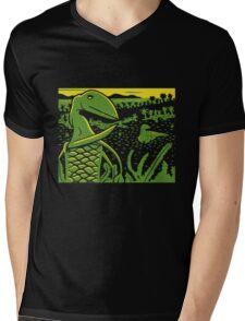 Dimorphodon and Scelidosaurus - Yellow and Green T-Shirt