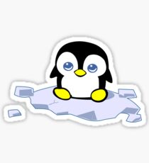 Penguin geek funny nerd Sticker