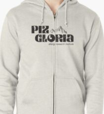 Piz Gloria - allergy research institute (worn look) Zipped Hoodie