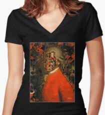 Mozart Women's Fitted V-Neck T-Shirt