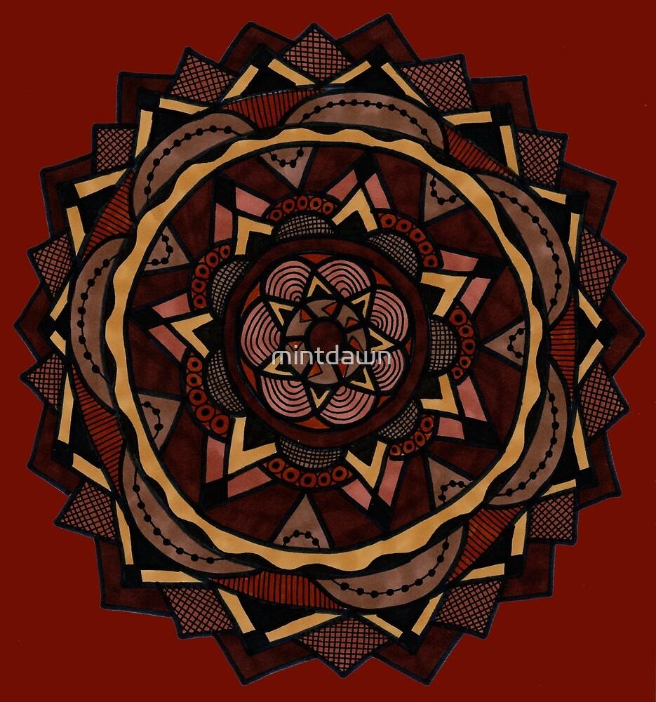 Wood and Walnut Mandala by mintdawn