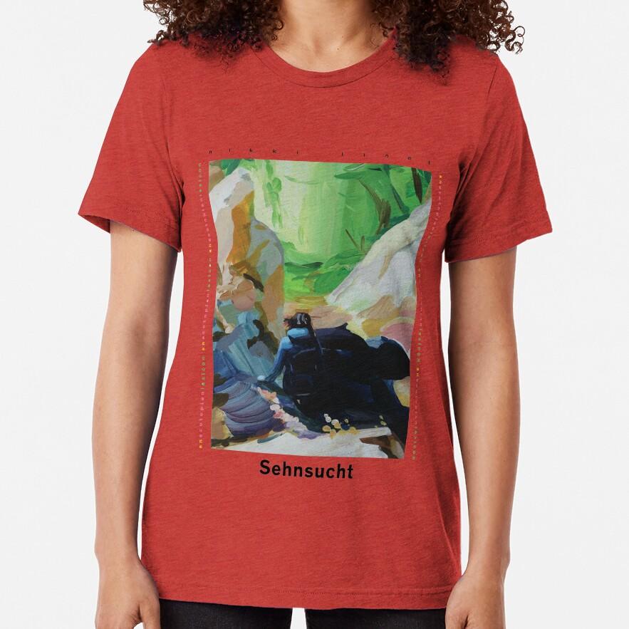 Sehnsucht by Nikki Lindt (Black Font) Tri-blend T-Shirt