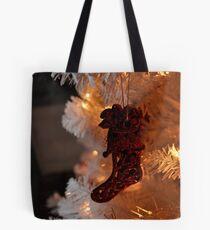 Red Stocking Tote Bag