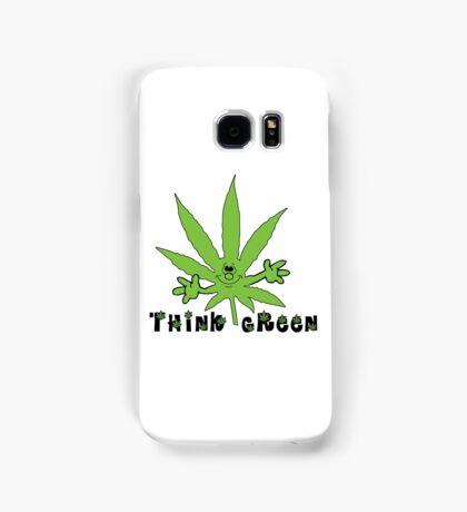 Think Green Marijuana Samsung Galaxy Case/Skin