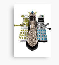 Evolution Of The Daleks Canvas Print