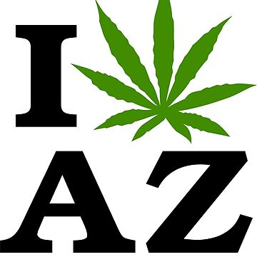 I Love Arizona Marijuana Cannabis Weed  by MarijuanaTshirt