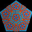 Super Pentagon Mosaic Pattern by Girih