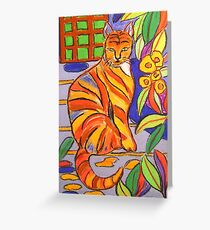 The Marmalade Cat Greeting Card