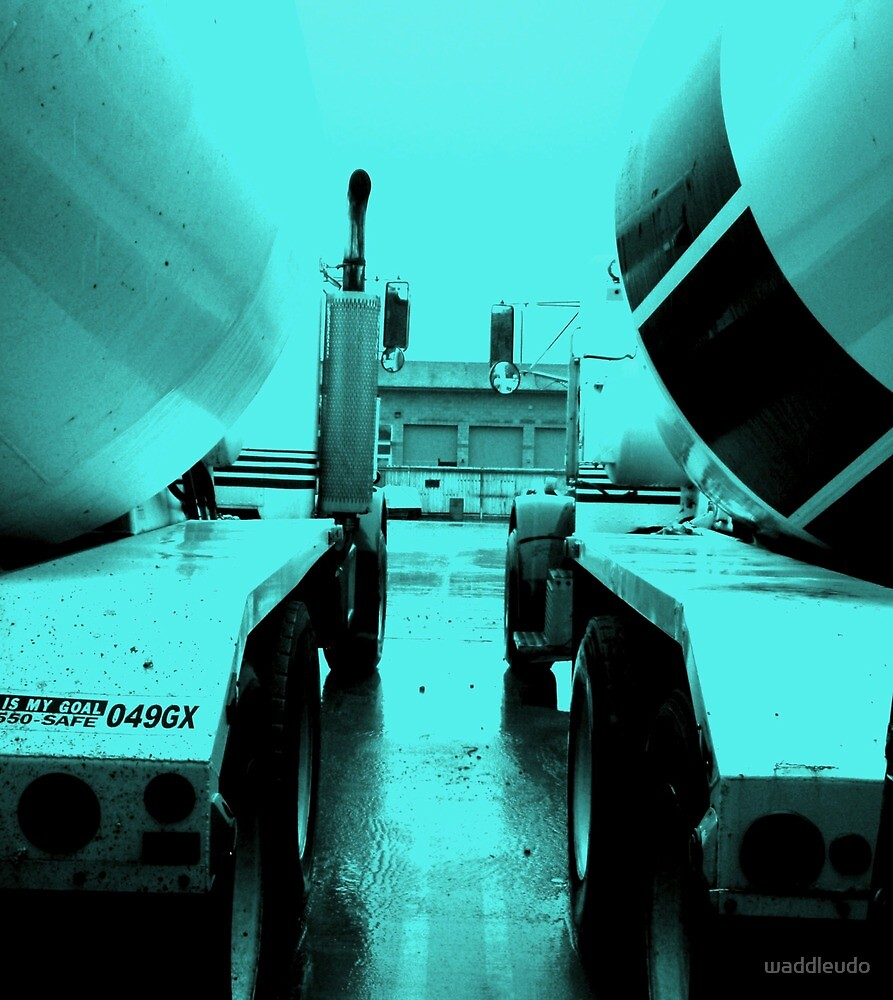 """Steel Blue"" Cement-Mixing Trucks by waddleudo"