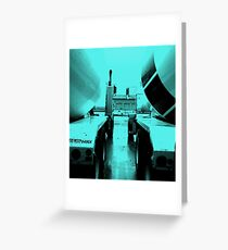 """""""Steel Blue"""" Cement-Mixing Trucks Greeting Card"""