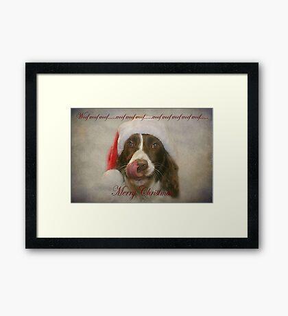 Woof Woof Woof..... Framed Print