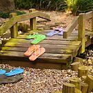"""""""Cross That Bridge When You Come To It"""" - flip flops over bridge by ArtThatSmiles"""