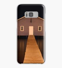 little boatshed on the river Samsung Galaxy Case/Skin