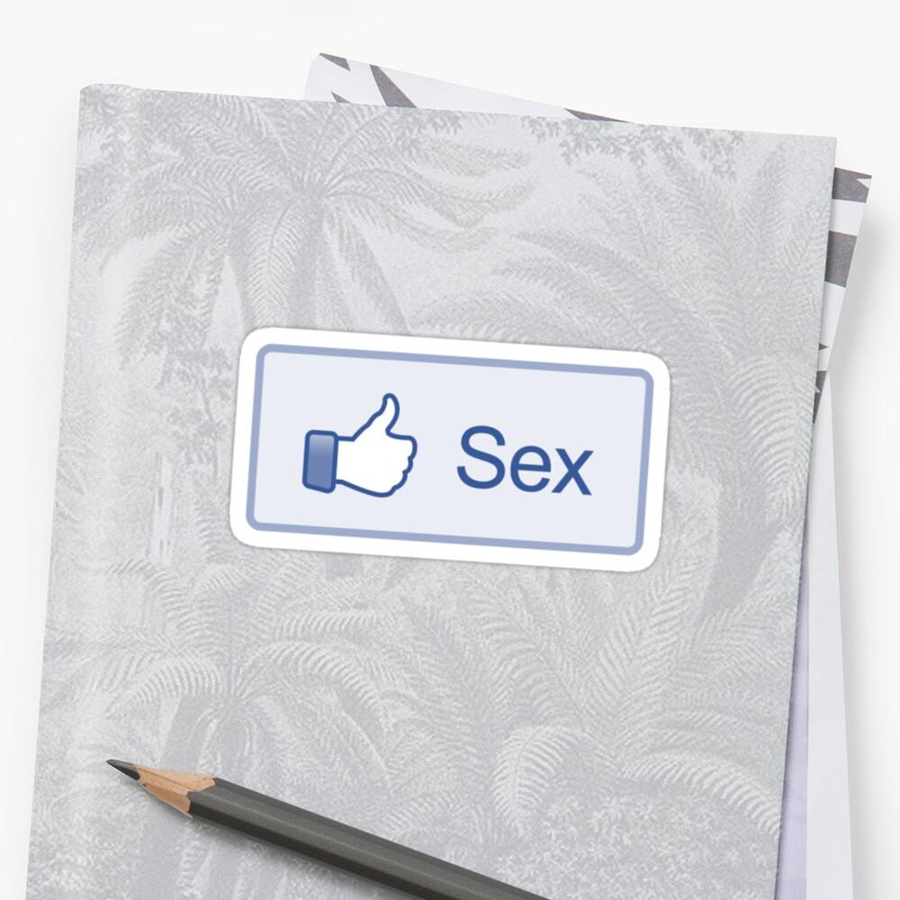 "Facebook ""Sex Button"" Shirt by likebutton"