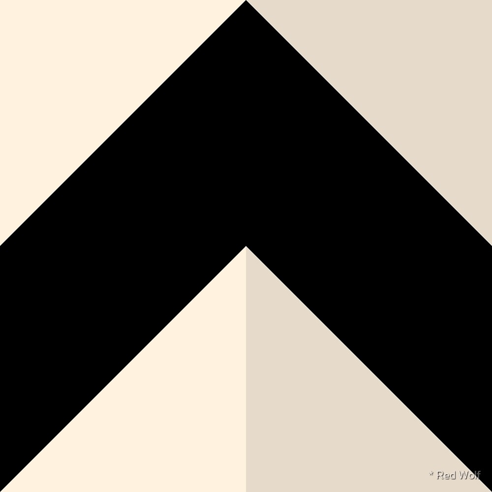 Geometric Pattern: Chevron: Dark/Black/Cream by * Red Wolf