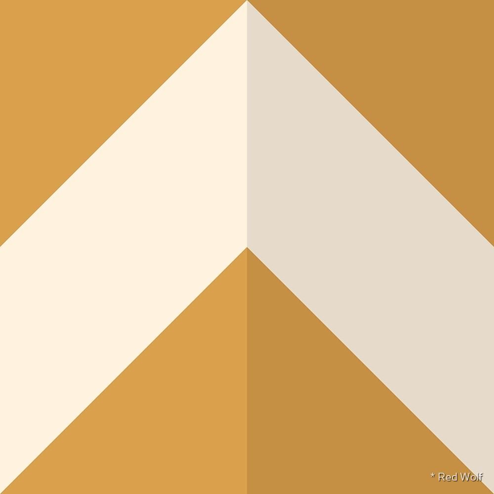 Geometric Pattern: Chevron: Dark/Cream/Gold by * Red Wolf