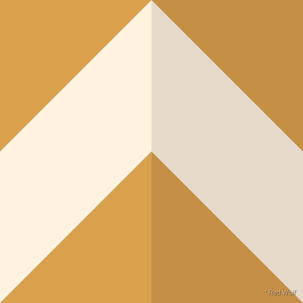 Geometric Pattern: Chevron: Dark/Cream/Gold by * Red Wolf