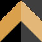 Geometric Pattern: Chevron: Light/Gold/Black by * Red Wolf