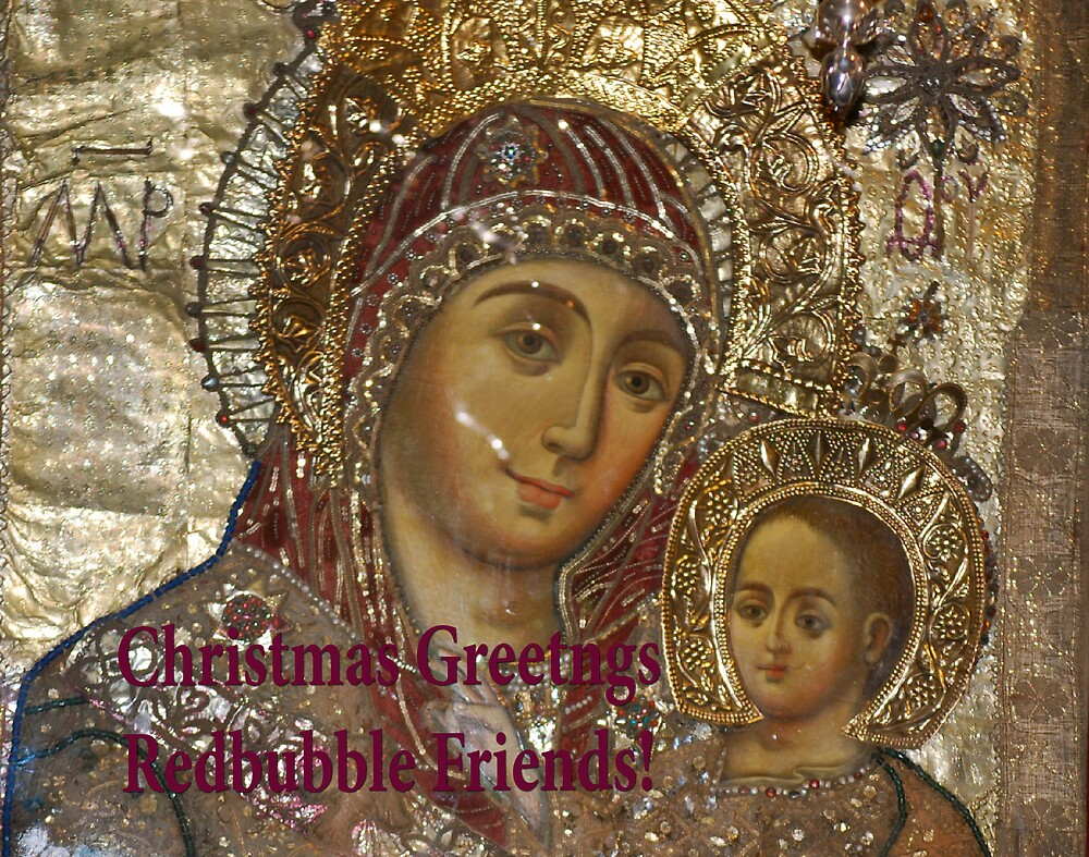 Christmas Greetings REDBUBBLE FRIENDS! by Carol Clifford