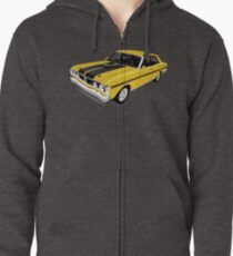 Ford Falcon XY GT - Yellow Zipped Hoodie