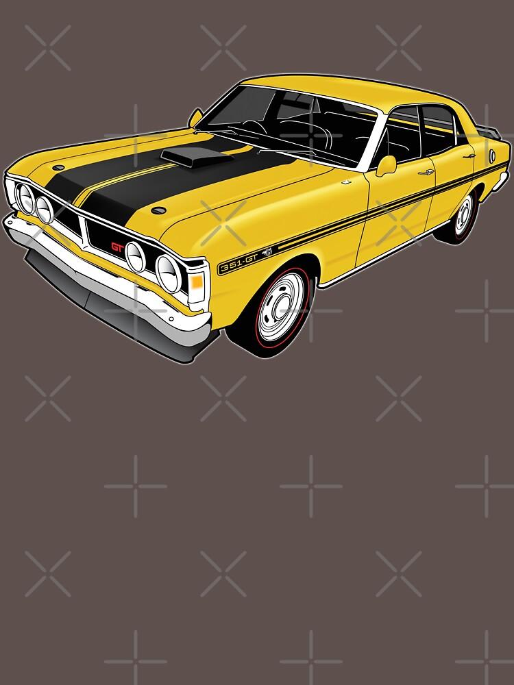 Ford Falcon XY GT - Yellow by tshirtgarage