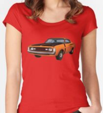 Chrysler Valiant VH Charger - Orange Women's Fitted Scoop T-Shirt