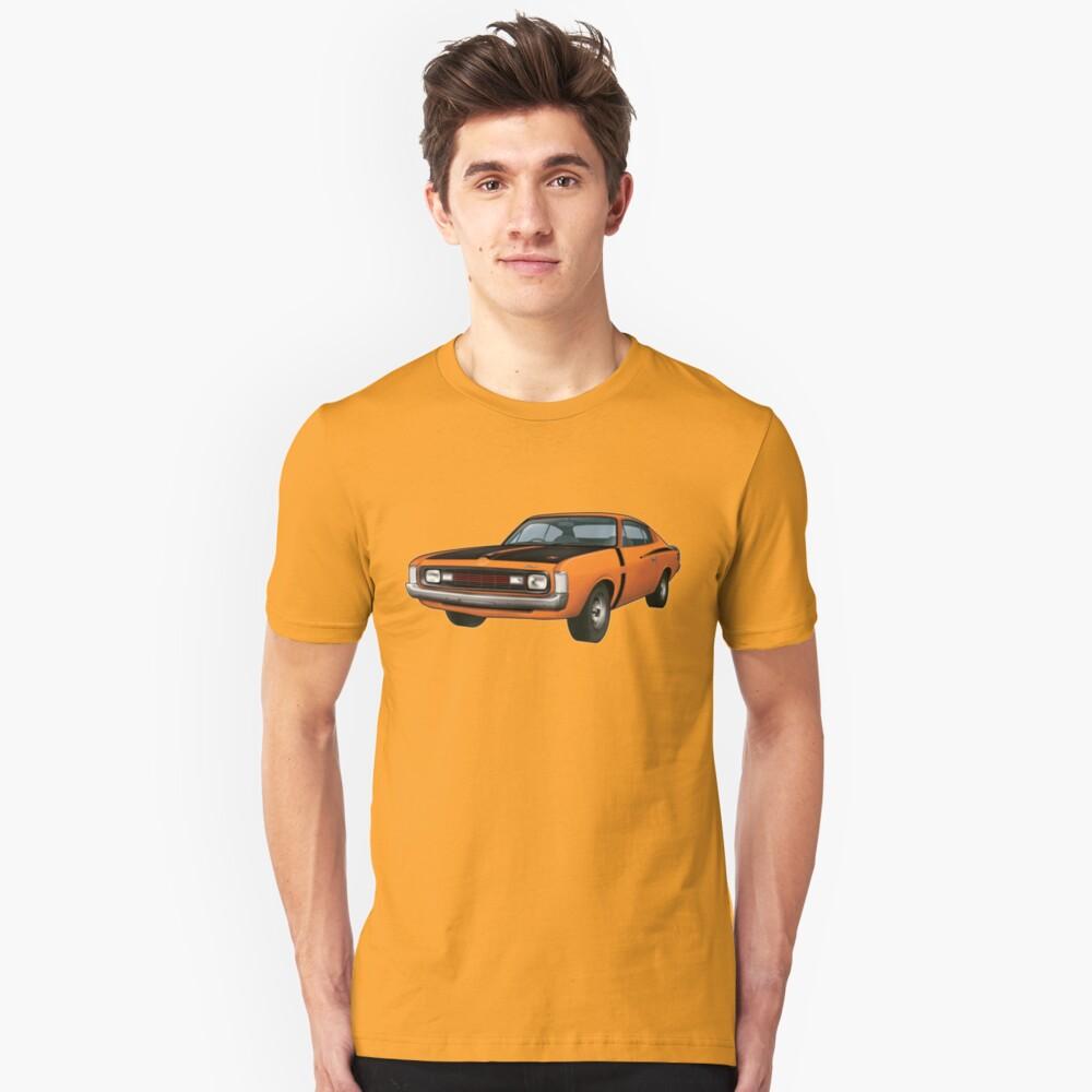 Chrysler Valiant VH Charger - Orange Unisex T-Shirt Front