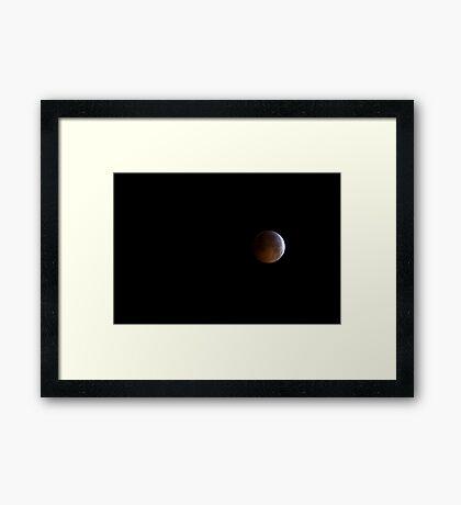 So Close... Lunar Eclipse and Winter Solstice - 2010 Framed Print