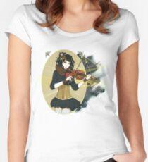 Violin Enamor Women's Fitted Scoop T-Shirt