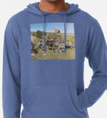 Texas cowboys in 1900 — a chuckwagon lunch during a cattle roundup Lightweight Hoodie