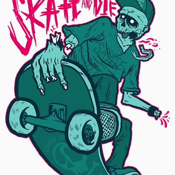 Skate and Die blue by fo3the13th