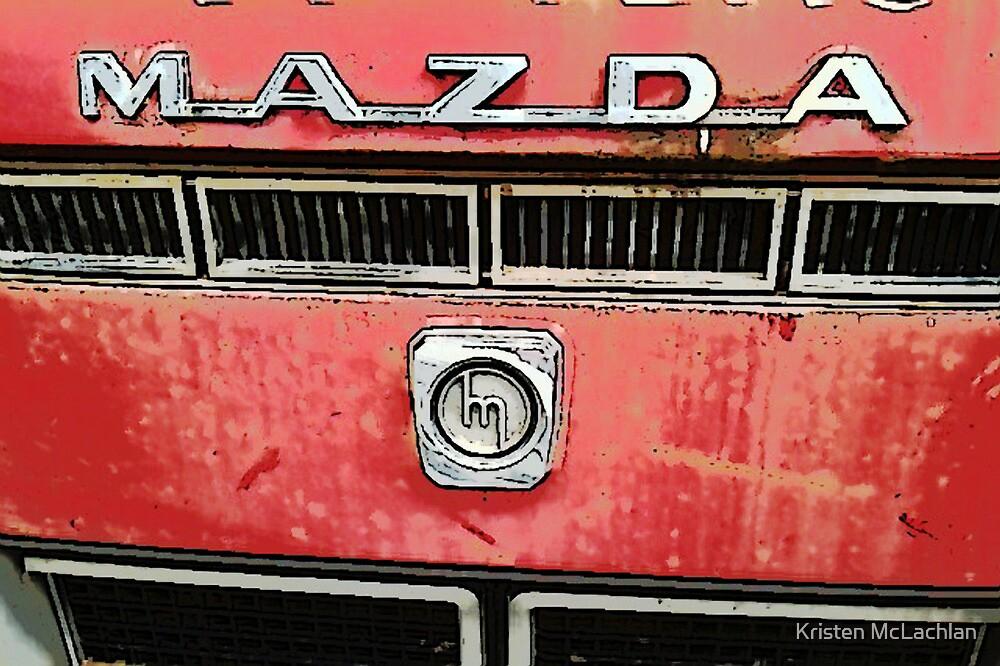 The Mazda Red Truck by Kristen McLachlan