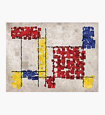 Mondrian Inspired Squares Photographic Print