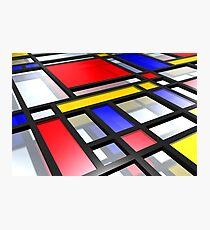 Mondrian Inspired 3D Photographic Print