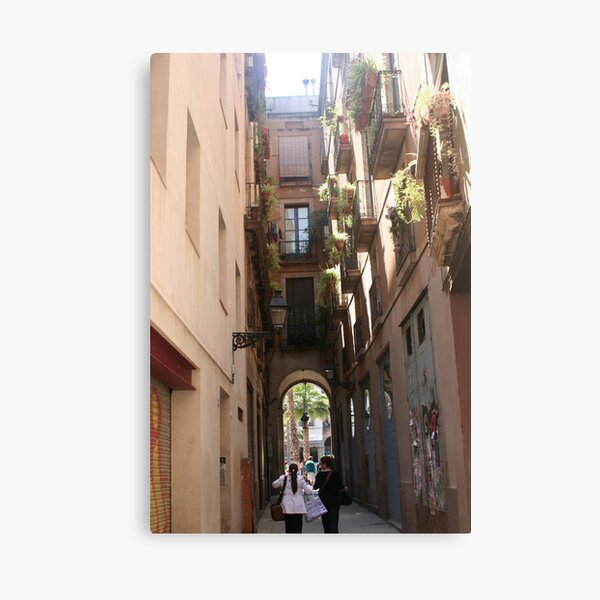 Barcelona - Passage to the square Canvas Print