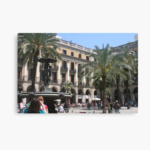 Barcelona - Pl. Real Canvas Print