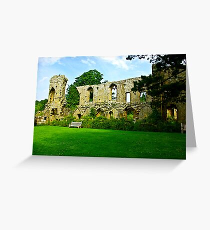 Jervaulx Abbey Greeting Card