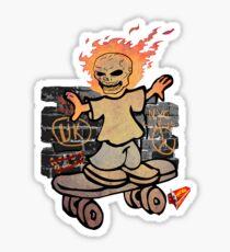 devil skater boy by ian rogers Sticker